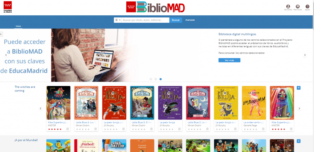La Comunidad de Madrid lanza la primera biblioteca digital plurilingüe junto a Odilo