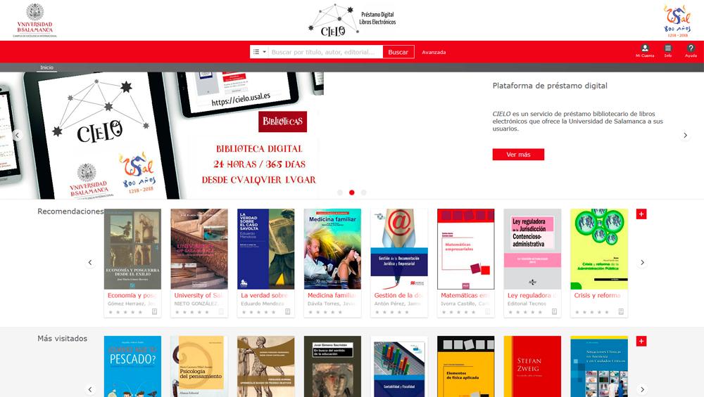 Odilo ha ganado por concurso público abierto CIELO, la plataforma de préstamo de contenidos digitales de la Universidad de Salamanca