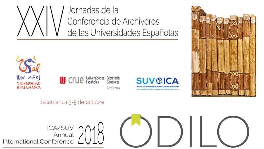 Odilo apoyando a los archivos universitarios en las XXIV Jornadas CAU/ICA en Salamanca del 3 al 5 de octubre