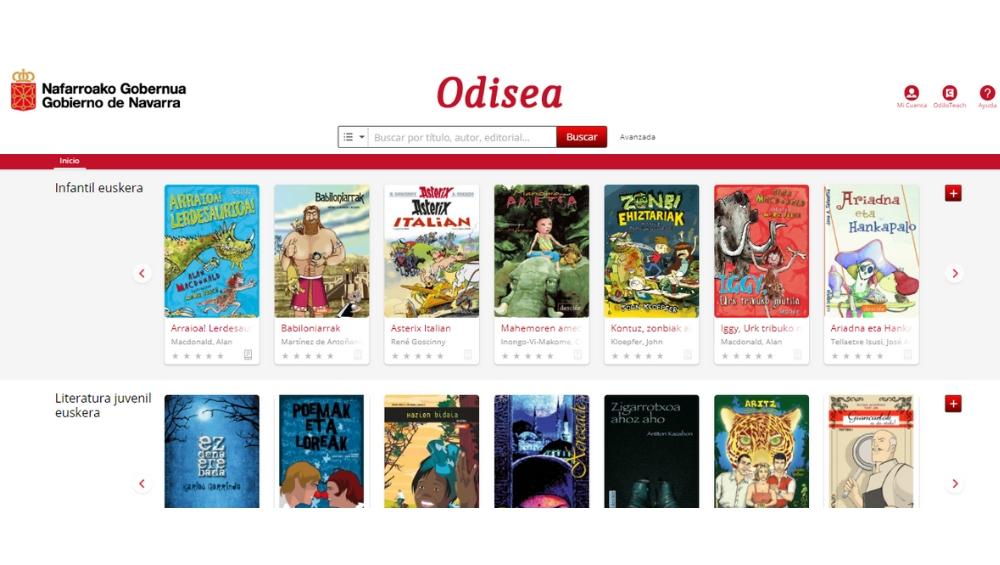Odisea es la biblioteca digital inteligente desarrollada por ODILO del Gobierno de Navarra