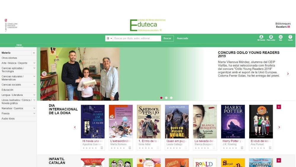 Eduteca, Biblioteca Digital Inteligente ODILO para la Consellería de Educación y Universidad del Gobierno Balear destaca en Diario de Mallorca