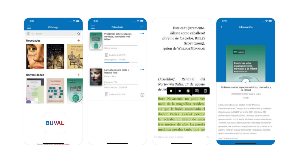 App biblioteca digital universidades valencianas