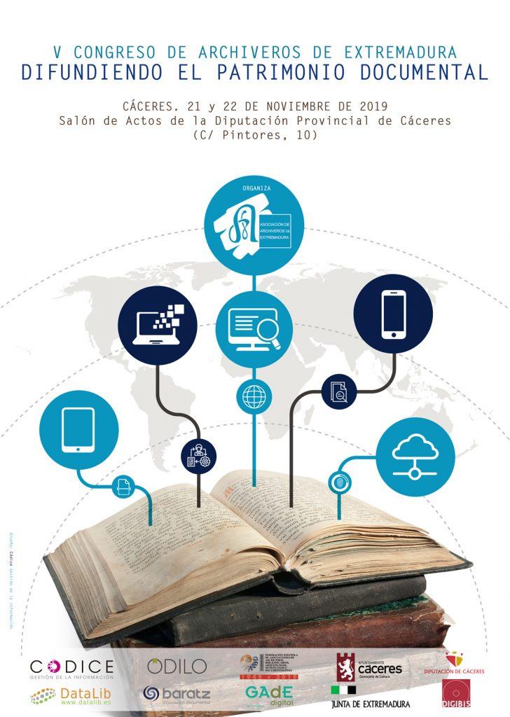V Congreso de Archiveros de Extremadura «Difundiendo el Patrimonio Documental»