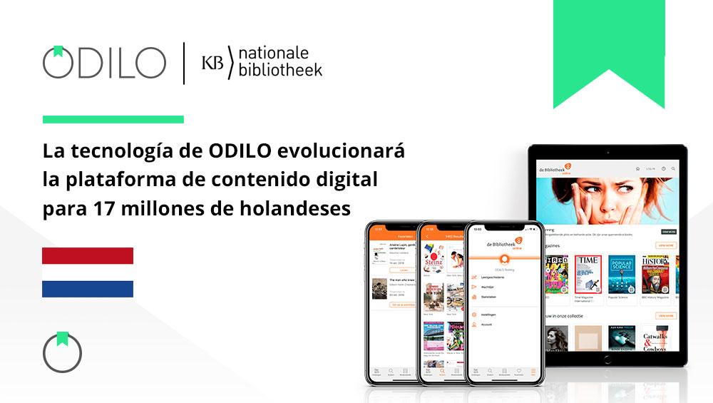 La tecnología de ODILO evolucionará la plataforma de contenido digital para 17 millones de holandeses